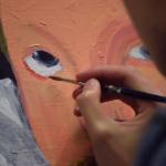 Tim Yau painting a portrait of Michael Drayton
