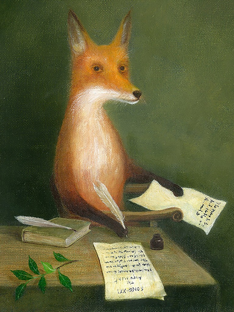 David McInnes, Michael Drayton Writing the One-and-Twentieth Song of Poly-Olbion, Fleet Street, 1617 (oil on canvas, 2015)