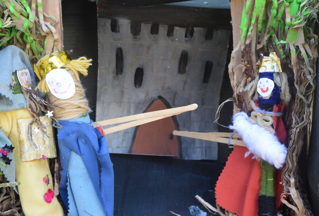 Poly-Olbion puppet theatre by Exeter House School