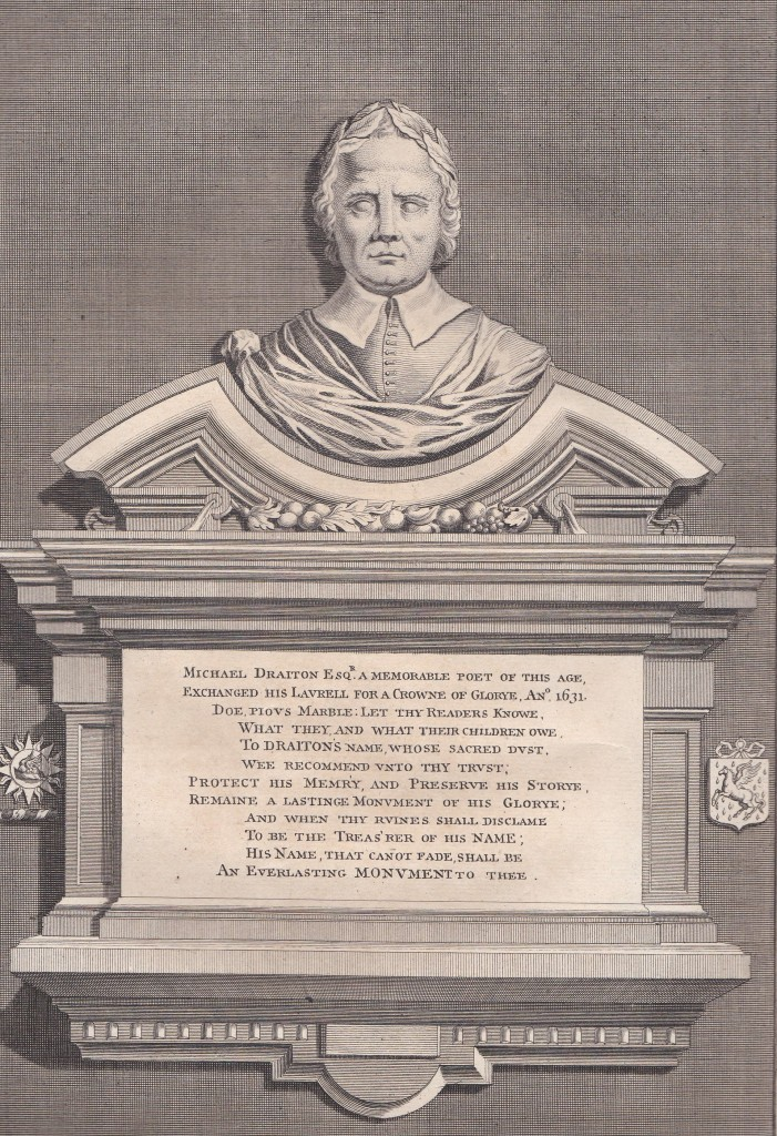 James Cole, Monument to Michael Drayton, Poets' Corner
