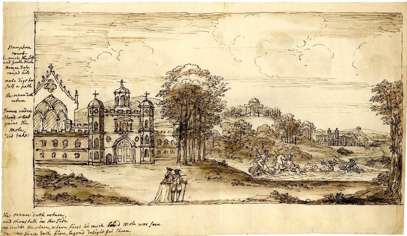 William Kent, Sketch of Hampton Court